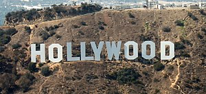 The Hollywood Sign, shot from an aircraft at about 1,500' MSL. (Photo credit: Wikipedia)