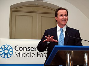 Rt Hon David Cameron MP speaking at the Conser...