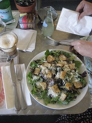 """Caesar salad, at """"La Divina"""" restaur..."""