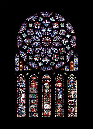 North transept rose window, c.1235