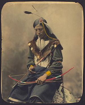 English: Chief Bone Necklace of the Oglala Lak...