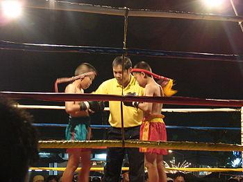 Muay Thai boy fighters in Uttaradit, Thailand