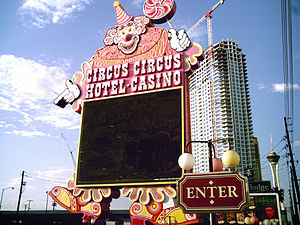 English: Circus Circus Hotel and Casino sign