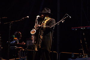 Clarence Clemons... Big Man!!! Performing &quo...