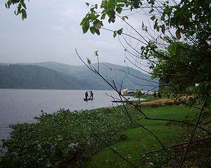 Congo (fleuve) river at Maluku (Congo); jacint...