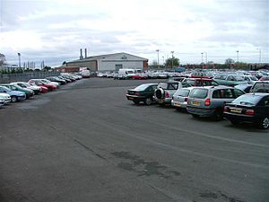 Manheim Car Auctions Storage Area.