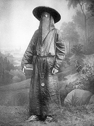 Italian monk in funeral attire, 1800's