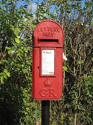 English: Postman Pat letterbox! GR postbox on ...