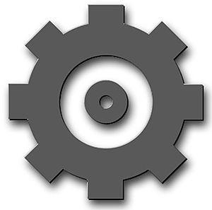 English: US Navy Engineman (EN). A gear.