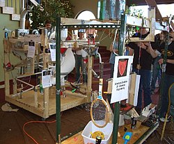 Rube Goldberg devices.