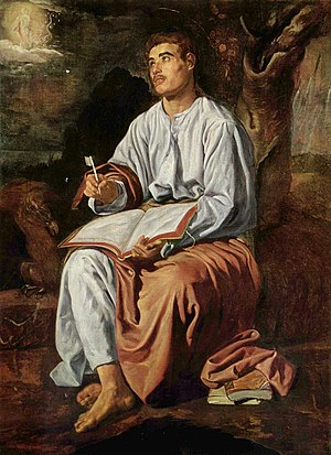San Juan Evangelista en Patmos, by Diego Velázquez