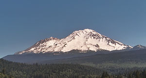 Mt. Shasta California, from the south near Dun...