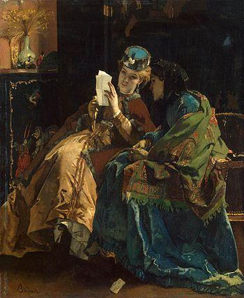 Stevens, Alfred - Pleasant Letter - 1860-67