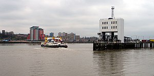Woolwich Ferry, looking south west towards Woo...