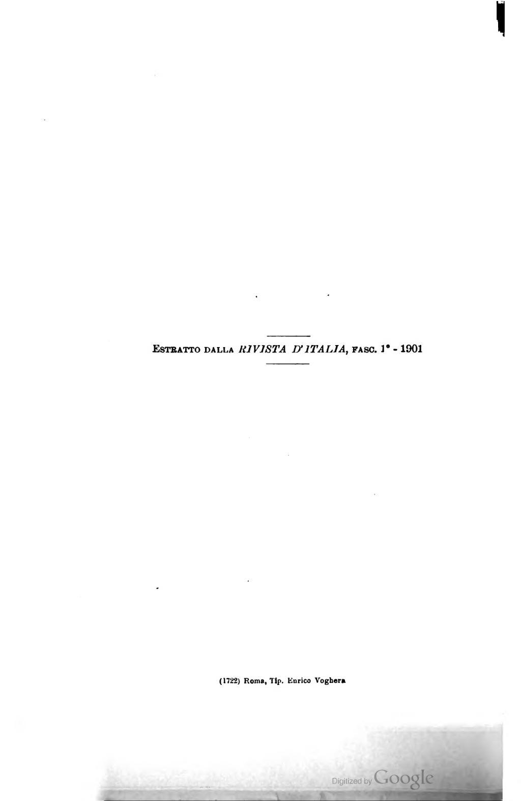 Pagina A Proposito Dei Sonetti Di Cesare Pascarellavu