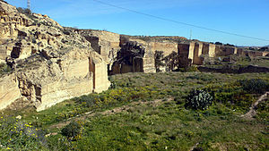 English: Roman quarries of Carthago Nova, now ...