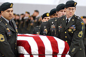An honor guard from the 1st Special Forces Gro...