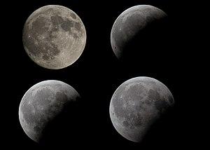 un pequeño 'collage' con la luna llena del día...