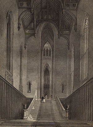 English: The hall of Fonthill Abbey in Wiltshi...