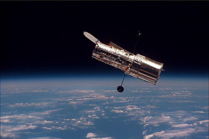 English: The Hubble Space Telescope (HST) begi...