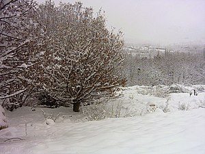 English: Khansar in cold winter