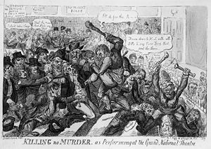 Cartoon of the riots by Isaac Robert Cruikshan...