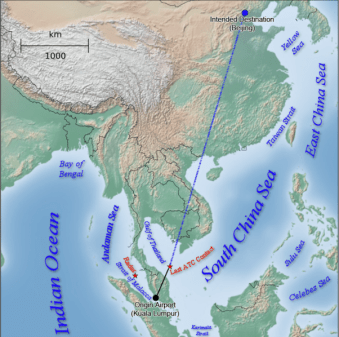 File:Malaysia Airlines MH370 origin destination atc radar water bodies.png
