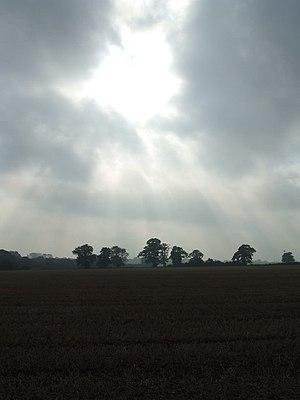 English: Morning suns rays Sunday morning suns...