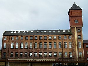 English: Munrospun factory, Restalrig The form...