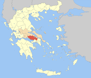 Locator map of Boeotia (Viotia) prefecture (Νο...