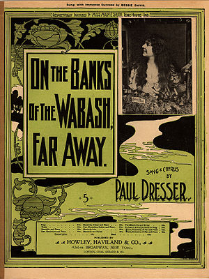 The sheet music cover of