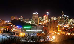 The Flames moved into the Olympic Saddledome (...