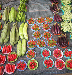 Organic vegetables at a farmers' mark...