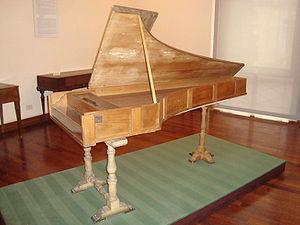 English: Piano forte by Bartolomeo Cristofori ...