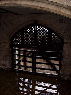 Tower of London, Traitors Gate, London, UK