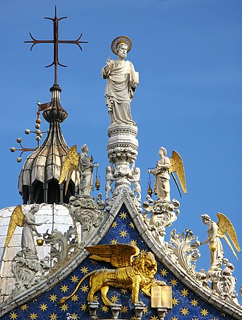 Detail of the rooftop of San Marco cathedral i...