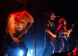 Viking Metal group Týr of the Faroe Islands in...