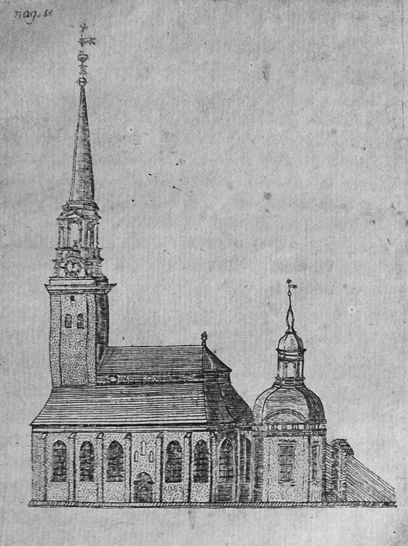 Tyska kyrkan på 1730-talet.