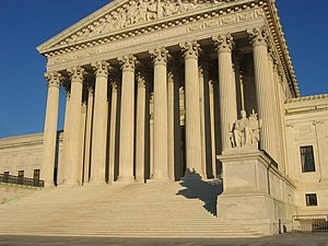 US Supreme Court building, front elevation, st...