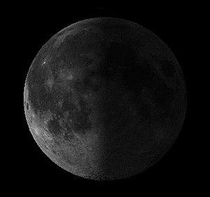 A waning moon.