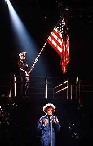 "English: Whitney Houston performing ""The ..."