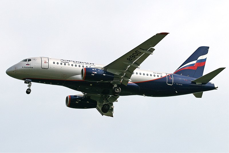 ukhoi Superjet 100 is designed for transportation of 98 passengers