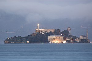 Alcatraz at dawn on San Francisco Bay