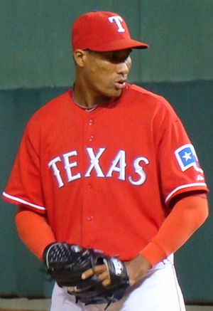 English: Alexi Ogando, Texas Rangers pitcher.