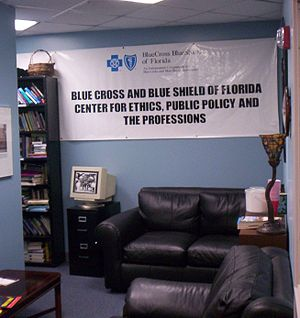 English: Lobby area for the Blue Cross and Blu...