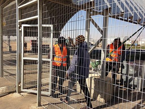 Entrance to Holot detention center 2013