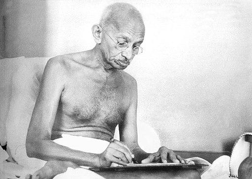 Gandhi writing Aug1942