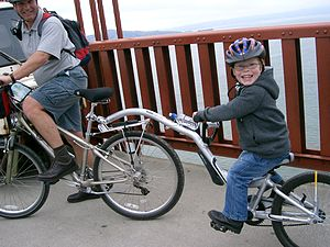 "Half Wheeler ""is a kids bike that hooks u..."