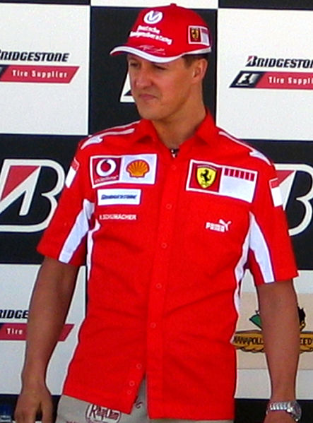 File:Michael Schumacher-I'm the man (cropped).jpg
