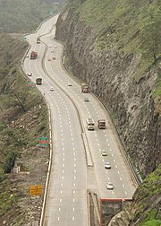 The Mumbai-Pune Expressway as seen from Khandala